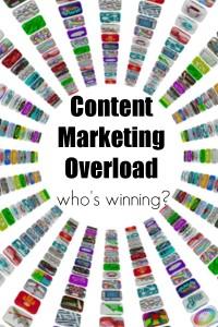 content marketing overload
