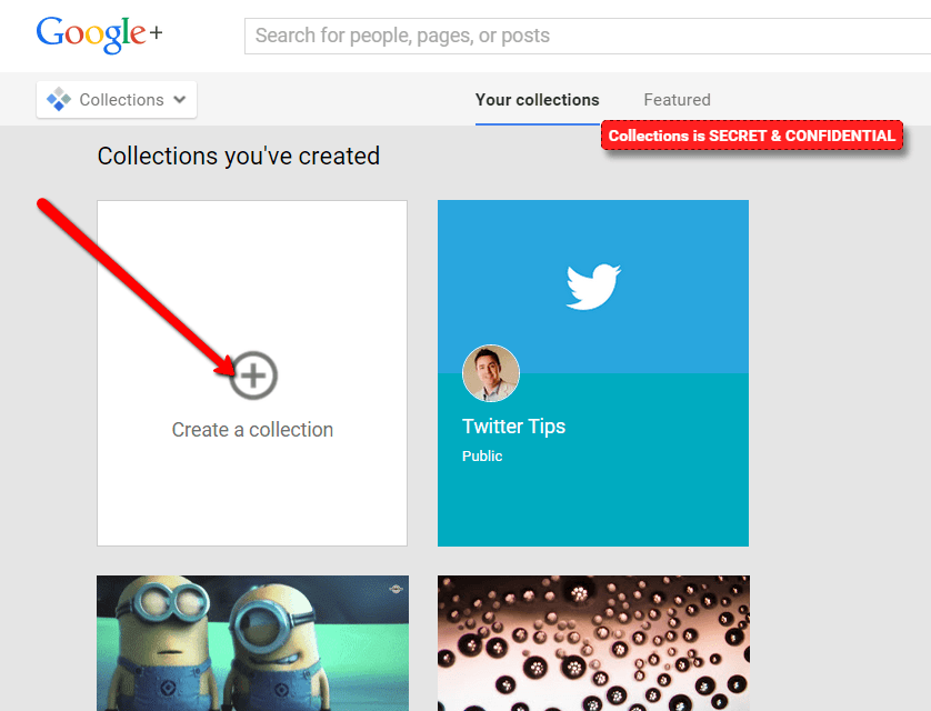 create your google plus collections