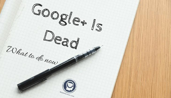 google plus is dead